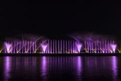 Выставка лазера в Maltepe, Турции Сцена, огонь Стоковые Изображения RF