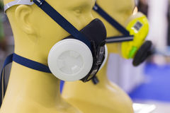 Выставка маски газового фильтра в выставке Бангкоке Таиланде июне 2017 Стоковые Изображения