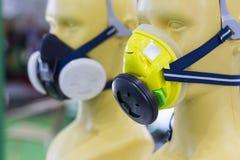 Выставка маски газового фильтра в выставке Бангкоке Таиланде июне 2017 Стоковые Фотографии RF