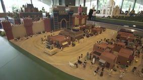 Выставка модель-макетов самых известных ориентир ориентиров сделанных Lego соединяет в Miniland Legoland на парках и курортах Дуб акции видеоматериалы