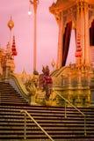 Выставка на королевской церемонии кремации короля Bhumibol Adulyadej Его Величество, земли Sanam Luang церемониальной, Бангкока,  Стоковое Фото