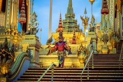 Выставка на королевской церемонии кремации короля Bhumibol Adulyadej Его Величество, земли Sanam Luang церемониальной, Бангкока,  Стоковое Изображение