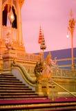 Выставка на королевской церемонии кремации короля Bhumibol Adulyadej Его Величество, земли Sanam Luang церемониальной, Бангкока,  Стоковая Фотография RF