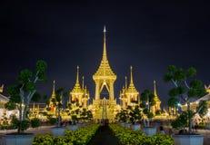 Выставка на королевской церемонии кремации короля Bhumibol Adulyadej Его Величество, земли Sanam Luang церемониальной, Бангкока,  Стоковое фото RF