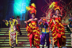 выставка нот танцульки индийская Стоковое Изображение