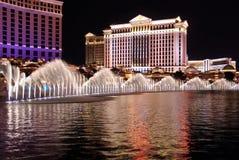 выставка ночи fontain Стоковая Фотография