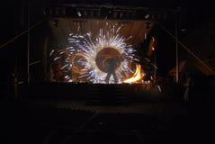 Выставка огня историческая Стоковые Фото