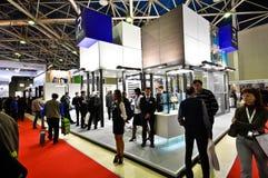 Выставка 2012, 11-ое апреля 2012, Москва, Россия MosBuild Стоковая Фотография RF
