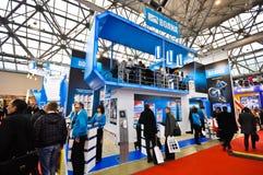 Выставка 2012, 11-ое апреля 2012, Москва, Россия MosBuild Стоковое Фото