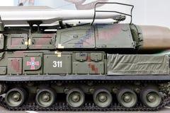 Выставка оружия и воинского оборудования на Khreshchatyk, в Ki Стоковая Фотография