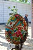 Выставка пасхальных яя 17-ого апреля 2017 в Kyiv, Украине Стоковое Изображение