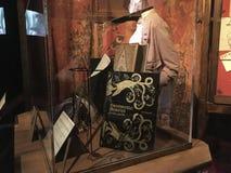 Выставка первоначального материала киносъемки Гарри Поттера стоковое изображение