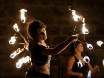 выставка пожара средневековая Стоковые Фото