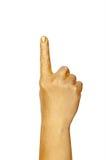 выставка руки жеста золотистая Стоковое Фото