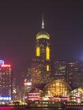 Выставка света гавани Hong Kong Виктория Стоковая Фотография