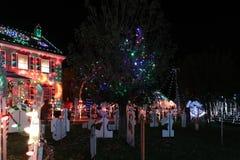 Выставка света деревни рождества Стоковое Изображение RF