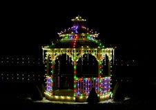 Выставка света деревни рождества ` s Koziar Стоковое Изображение RF