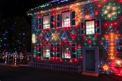 Выставка света деревни рождества ` s Koziar Стоковое фото RF