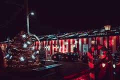 Выставка света деревни рождества ` s Koziar Стоковые Фотографии RF