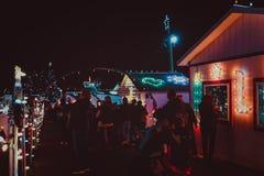 Выставка света деревни рождества ` s Koziar Стоковое Фото