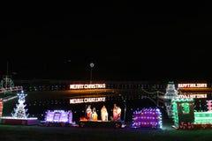 Выставка света деревни рождества ` s Koziar Стоковая Фотография