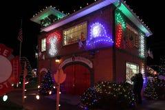 Выставка света деревни рождества ` s Koziar Стоковые Изображения RF