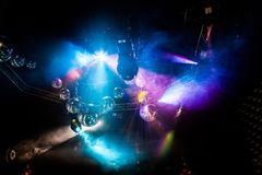 Выставка света диско, света этапа стоковое изображение rf