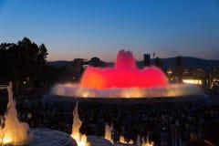 Выставка света фонтана Стоковые Изображения RF