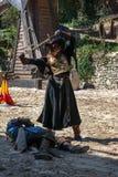 Выставка: Сказание рыцарей в Provins, Франции стоковая фотография rf