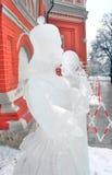 Выставка скульптуры льда на красном квадрате Стоковая Фотография