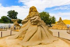 Выставка скульптур песка Стоковые Изображения