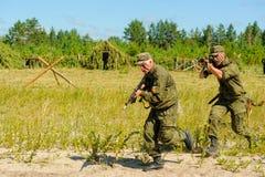 Выставка специальных ратников войск Tyumen Стоковые Фотографии RF