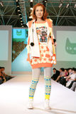 выставка способа Азии женская модельная Стоковое Изображение RF