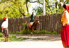 Выставка театра лошади казаков Стоковые Фотографии RF