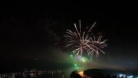 Выставка фейерверка pyrotechnic видеоматериал