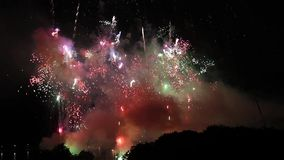 Выставка фейерверка pyrotechnic акции видеоматериалы