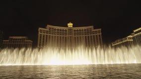 Выставка фонтана на Bellagio в речном пороге акции видеоматериалы