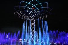 Выставка фонтана экспо Стоковые Изображения RF