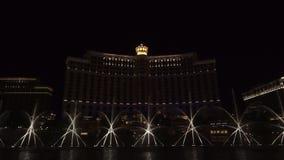 Выставка фонтана Bellagio сток-видео