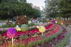 Выставка цветка в Taipa расквартировывает музей стоковое фото rf