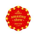 Выставка цирка изумительная иллюстрация штока