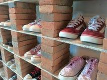 Выставка шкафа ботинка Стоковые Изображения