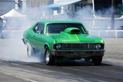 Выставка дыма гонки сопротивления Стоковые Фотографии RF
