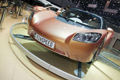 выставка 2009 ichange geneva rinspeed мотором Стоковые Изображения RF