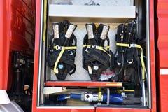 выставка firetruck пожара двигателя старая Стоковое Фото