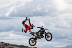 Выставка motocross фристайла стоковые фотографии rf