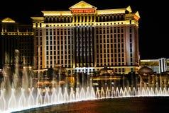 выставка vegas ночи фонтанов Стоковые Изображения