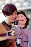 Выставка ventriloquist известной певицы zhouyan стоковая фотография rf