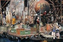 Выставка Waterworld на всеобщих студиях стоковая фотография