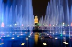 выставка xian фонтана музыкальная Стоковые Изображения